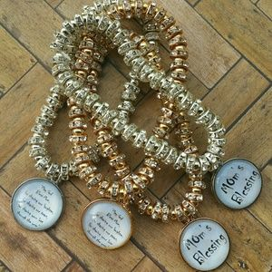 Mother's Blessing Charm Bracelets set of 4